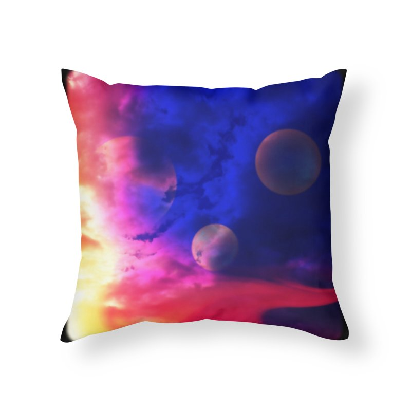 The Planets Home Throw Pillow by Shelly Still's Artist Shop