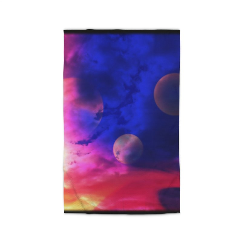 The Planets Home Rug by Shelly Still's Artist Shop