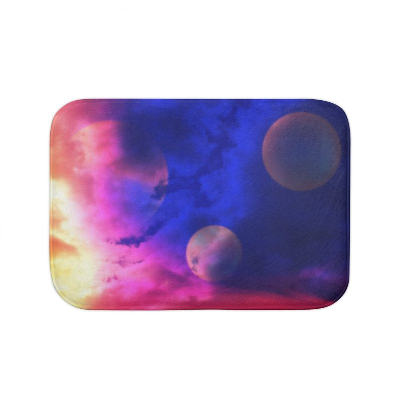 The Planets Home Bath Mat by Shelly Still's Artist Shop