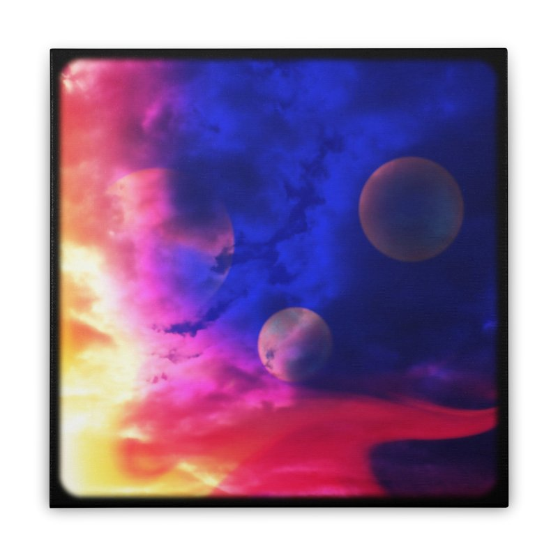 The Planets Home Stretched Canvas by Shelly Still's Artist Shop