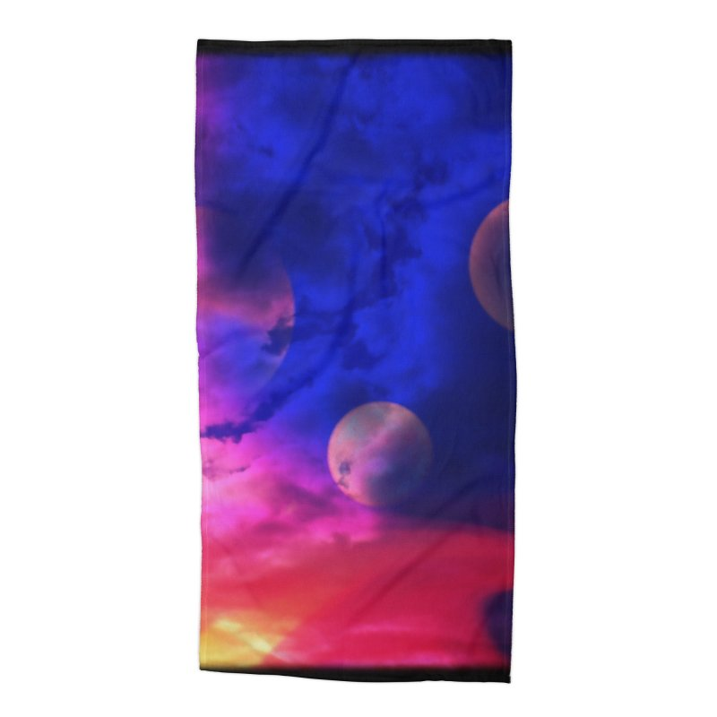 The Planets Accessories Beach Towel by Shelly Still's Artist Shop