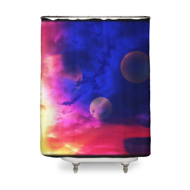The Planets Home Shower Curtain by Shelly Still's Artist Shop
