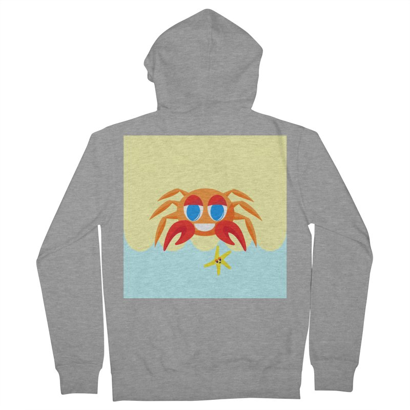 Mr Crab on the Beach Women's Zip-Up Hoody by Shelly Still's Artist Shop