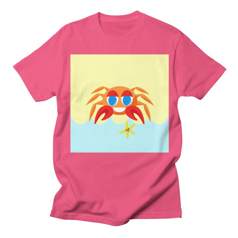 Mr Crab on the Beach Women's Unisex T-Shirt by Shelly Still's Artist Shop
