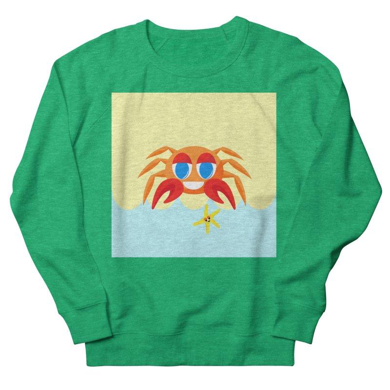 Mr Crab on the Beach Women's Sweatshirt by Shelly Still's Artist Shop