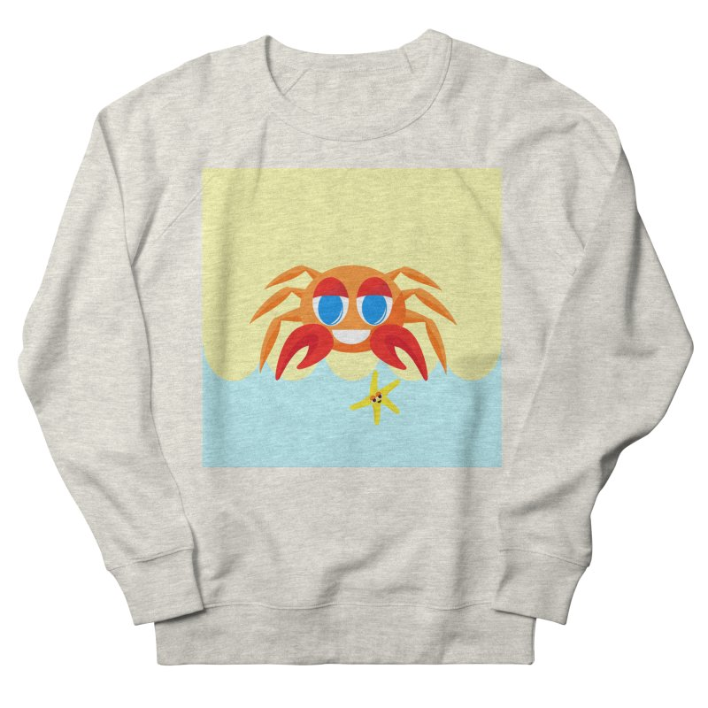 Mr Crab on the Beach Men's Sweatshirt by Shelly Still's Artist Shop