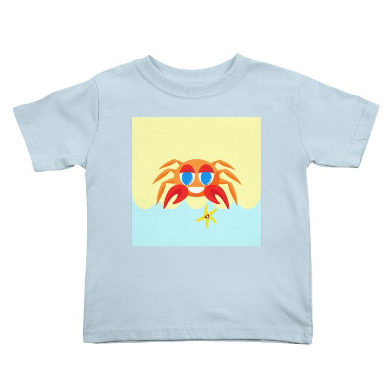 Mr Crab on the Beach Kids Toddler T-Shirt by Shelly Still's Artist Shop