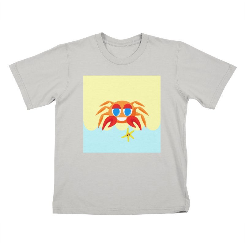 Mr Crab on the Beach Kids T-shirt by Shelly Still's Artist Shop