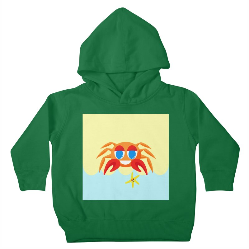 Mr Crab on the Beach Kids Toddler Pullover Hoody by Shelly Still's Artist Shop