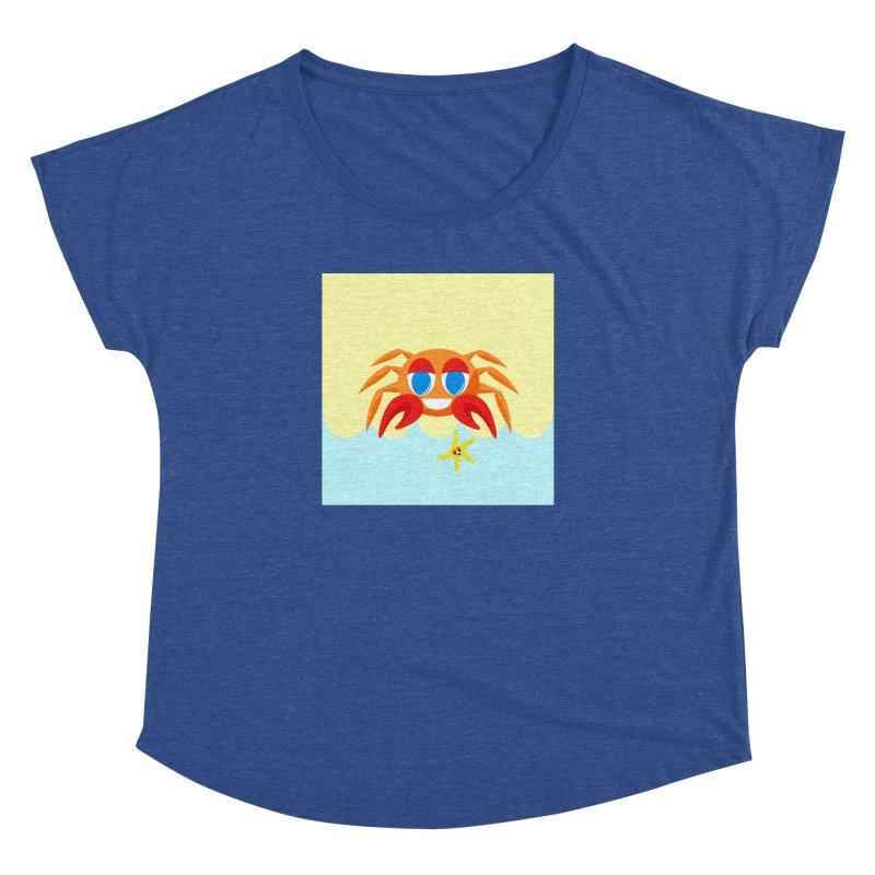 Mr Crab on the Beach Women's Dolman by Shelly Still's Artist Shop