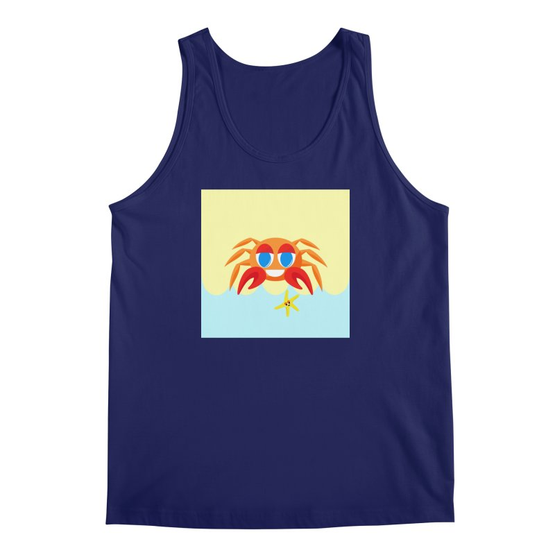 Mr Crab on the Beach Men's Tank by Shelly Still's Artist Shop