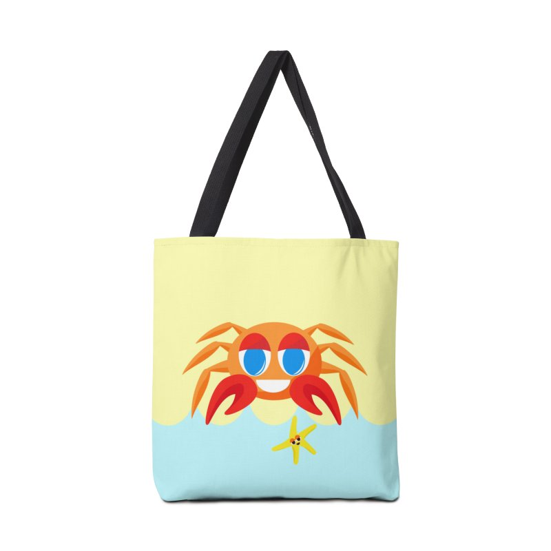 Mr Crab on the Beach Accessories Bag by Shelly Still's Artist Shop