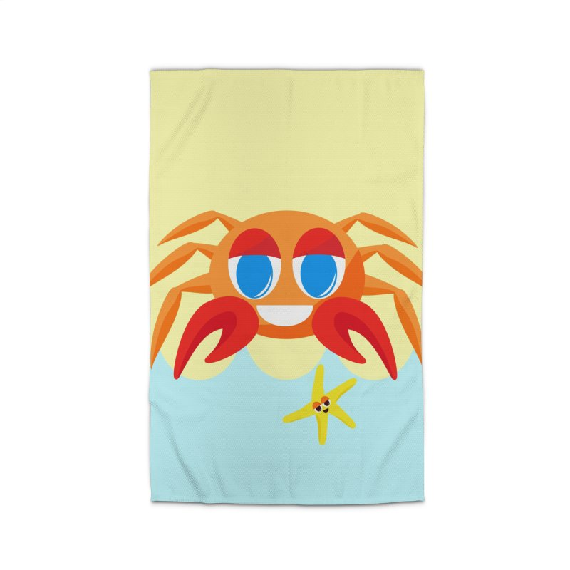 Mr Crab on the Beach Home Rug by Shelly Still's Artist Shop
