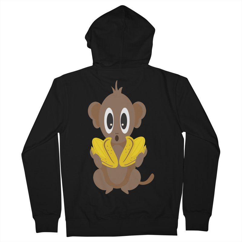 Lil Monkey Face Women's Zip-Up Hoody by Shelly Still's Artist Shop