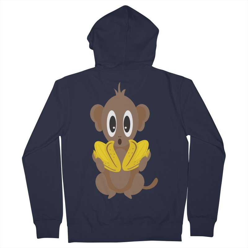 Lil Monkey Face Men's Zip-Up Hoody by Shelly Still's Artist Shop