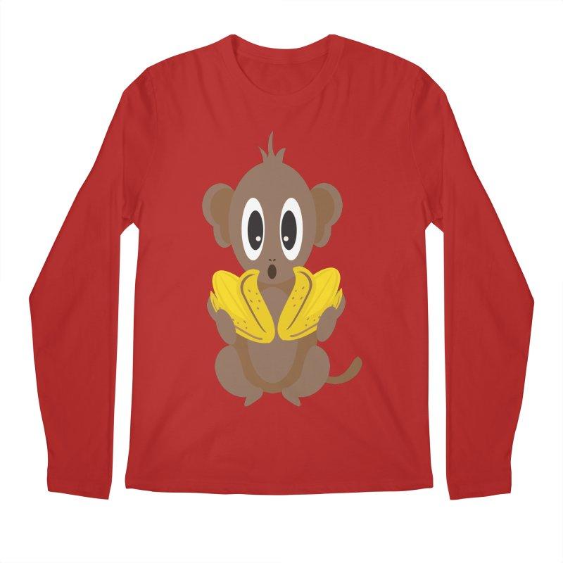 Lil Monkey Face Men's Longsleeve T-Shirt by Shelly Still's Artist Shop
