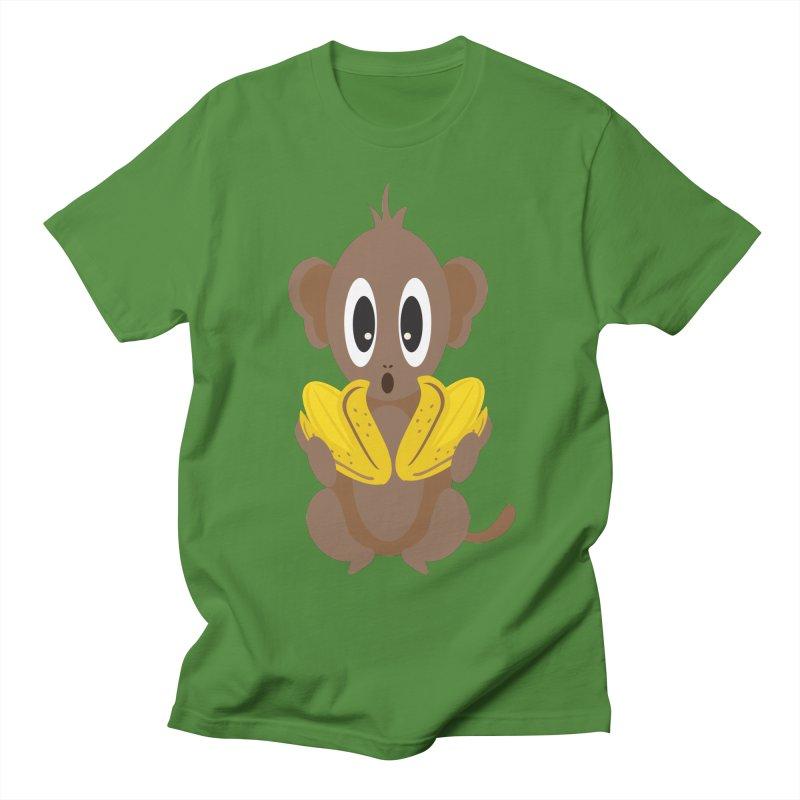 Lil Monkey Face Men's T-shirt by Shelly Still's Artist Shop