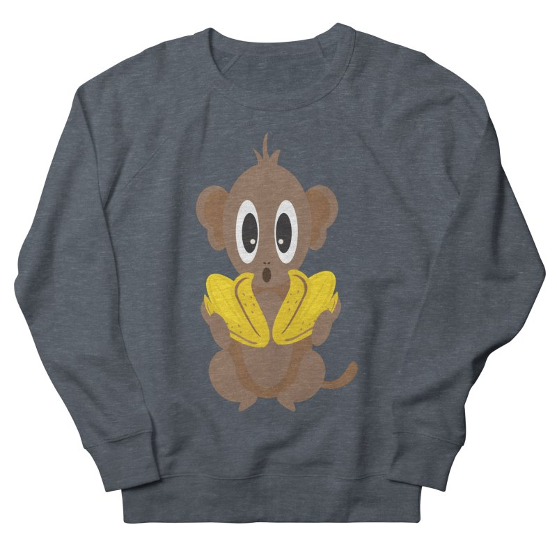 Lil Monkey Face Women's Sweatshirt by Shelly Still's Artist Shop