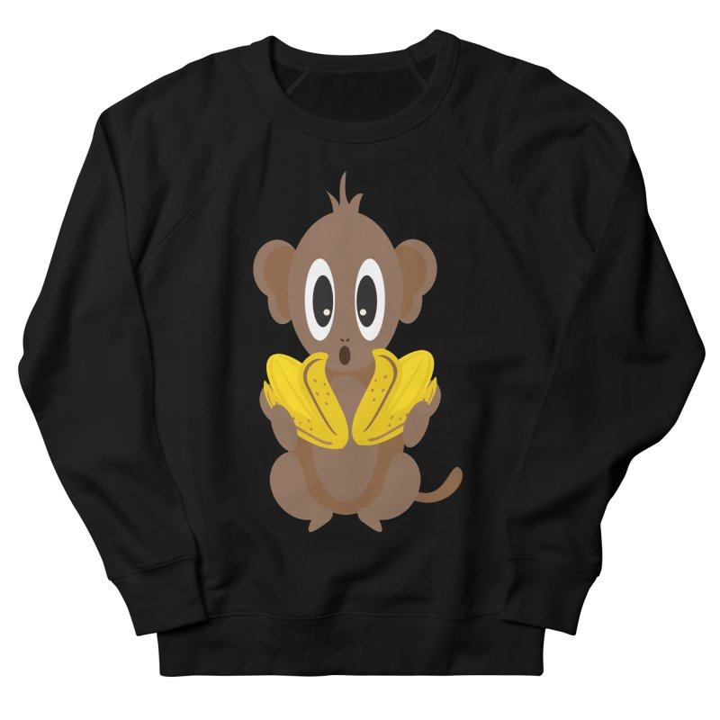 Lil Monkey Face Men's Sweatshirt by Shelly Still's Artist Shop