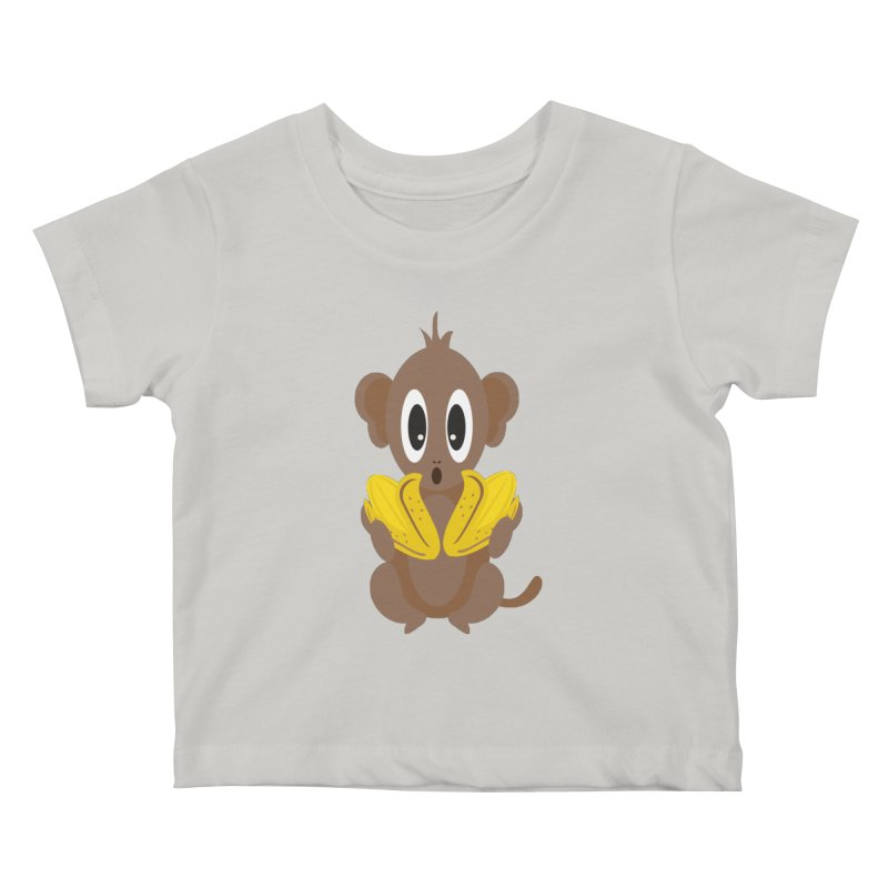 Lil Monkey Face Kids Baby T-Shirt by Shelly Still's Artist Shop