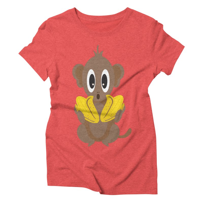 Lil Monkey Face Women's Triblend T-shirt by Shelly Still's Artist Shop