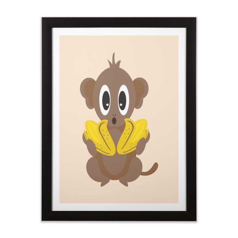 Lil Monkey Face Home Framed Fine Art Print by Shelly Still's Artist Shop