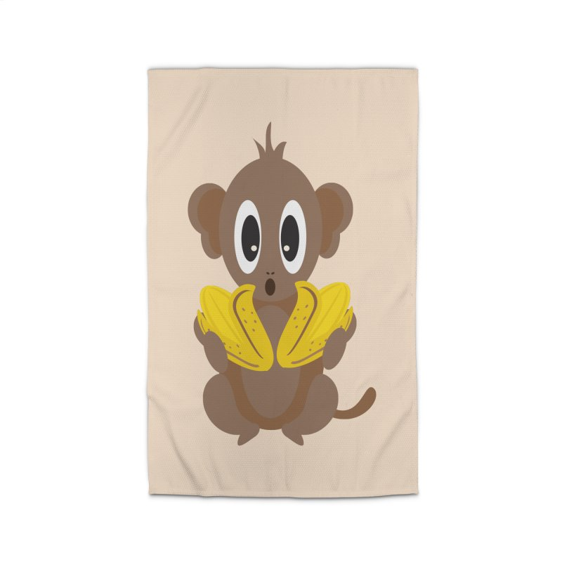 Lil Monkey Face Home Rug by Shelly Still's Artist Shop