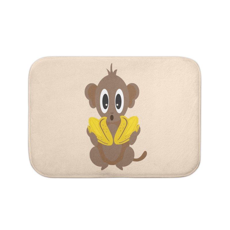 Lil Monkey Face Home Bath Mat by Shelly Still's Artist Shop