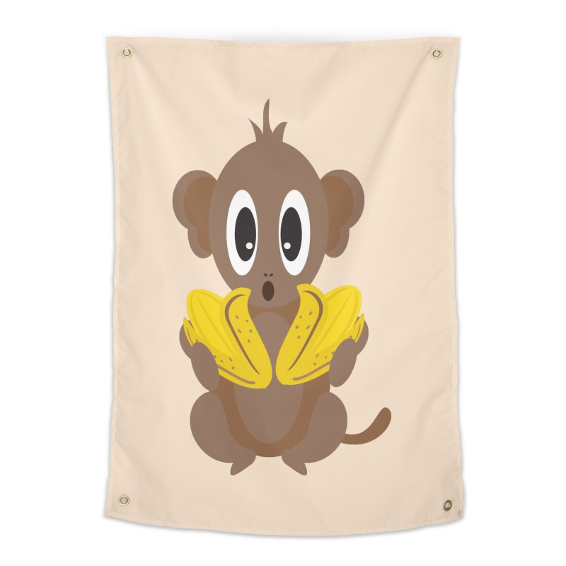 Lil Monkey Face Home Tapestry by Shelly Still's Artist Shop