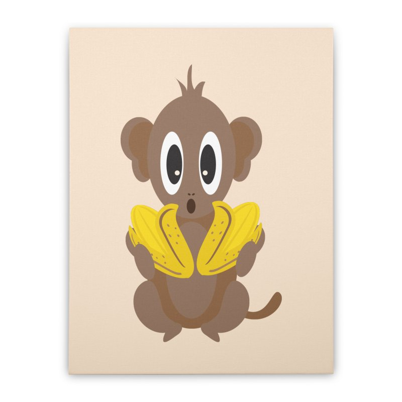 Lil Monkey Face Home Stretched Canvas by Shelly Still's Artist Shop