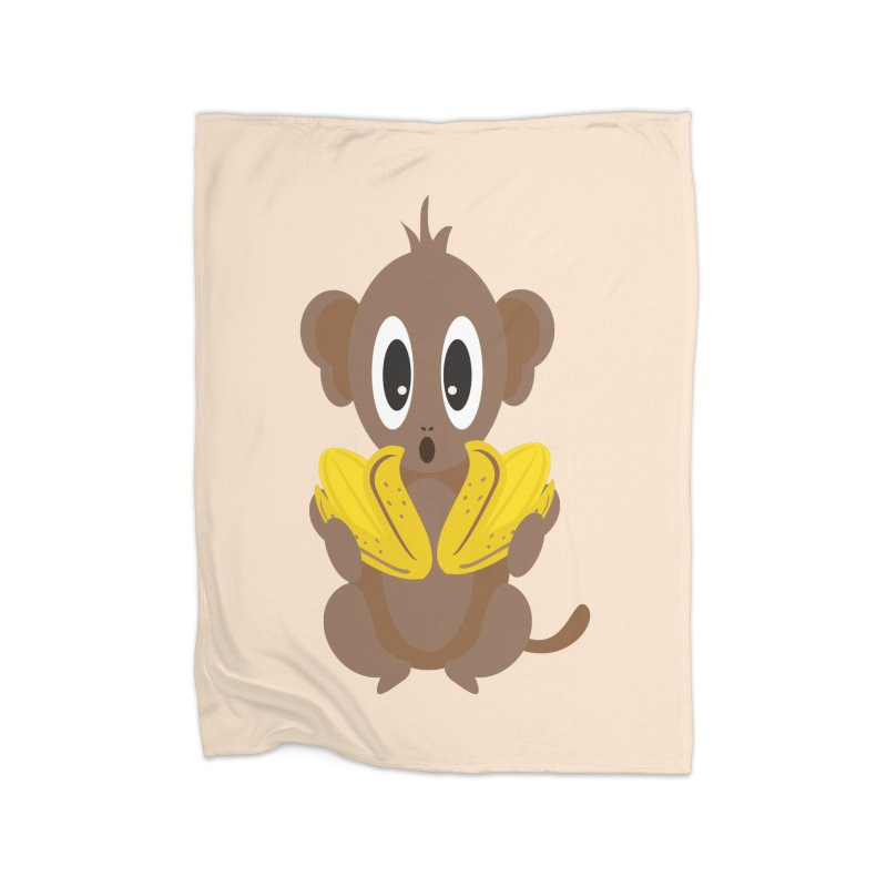 Lil Monkey Face Home Blanket by Shelly Still's Artist Shop