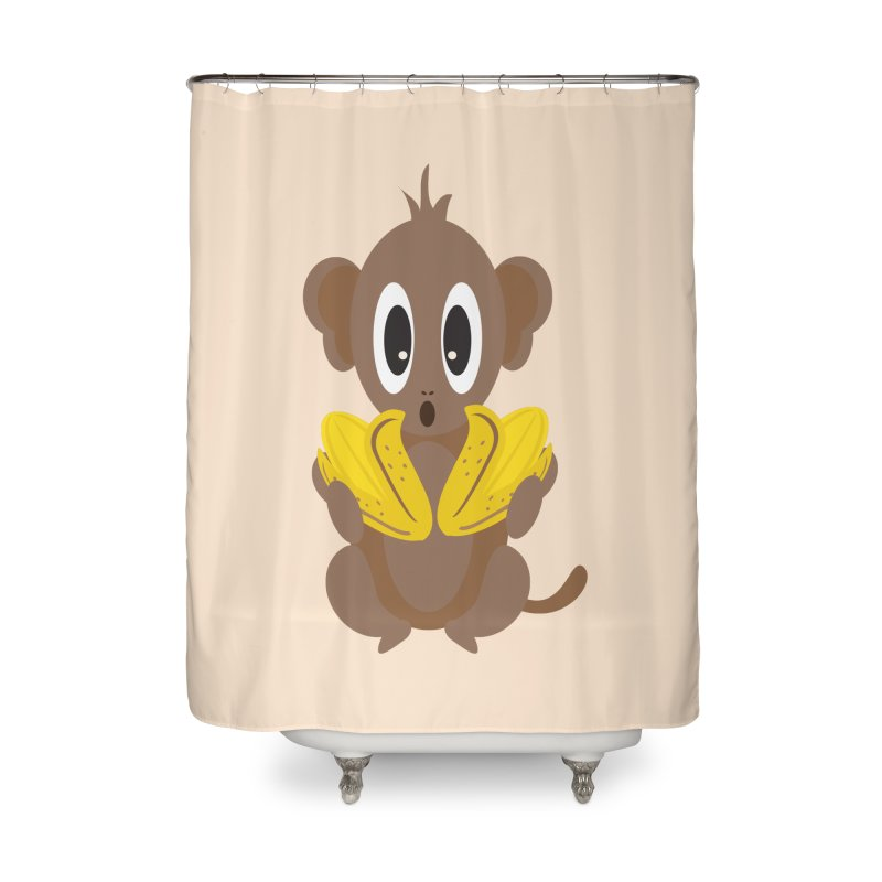 Lil Monkey Face Home Shower Curtain by Shelly Still's Artist Shop