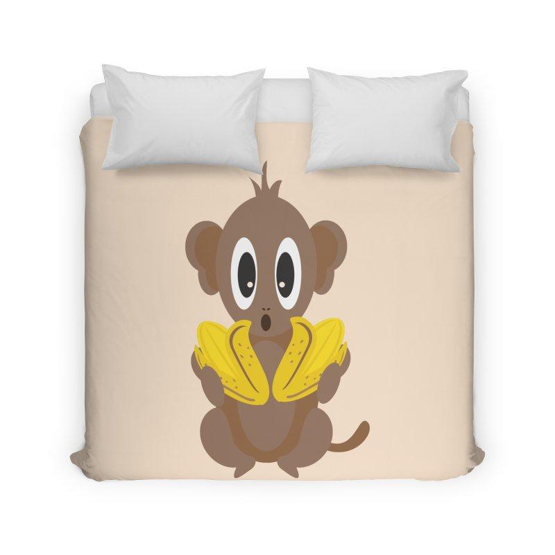 Lil Monkey Face Home Duvet by Shelly Still's Artist Shop