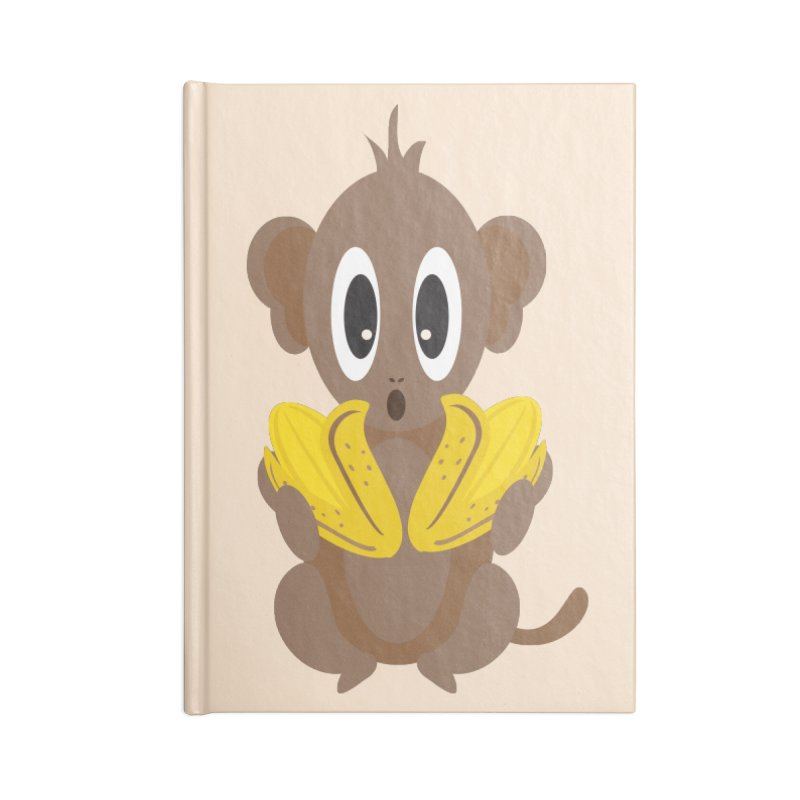 Lil Monkey Face Accessories Notebook by Shelly Still's Artist Shop
