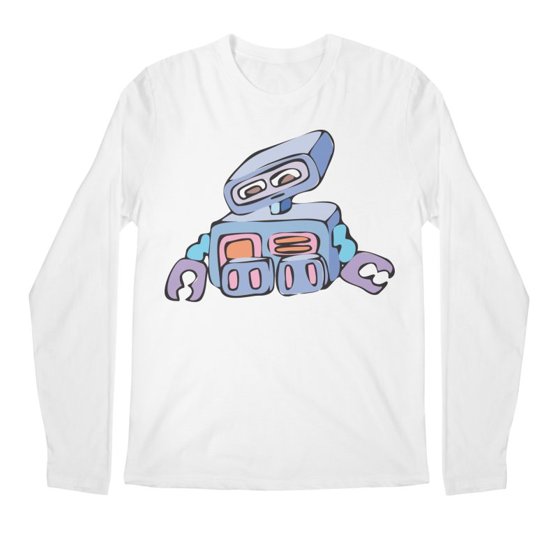 Sad Sad Robot Men's Longsleeve T-Shirt by Shelly Still's Artist Shop