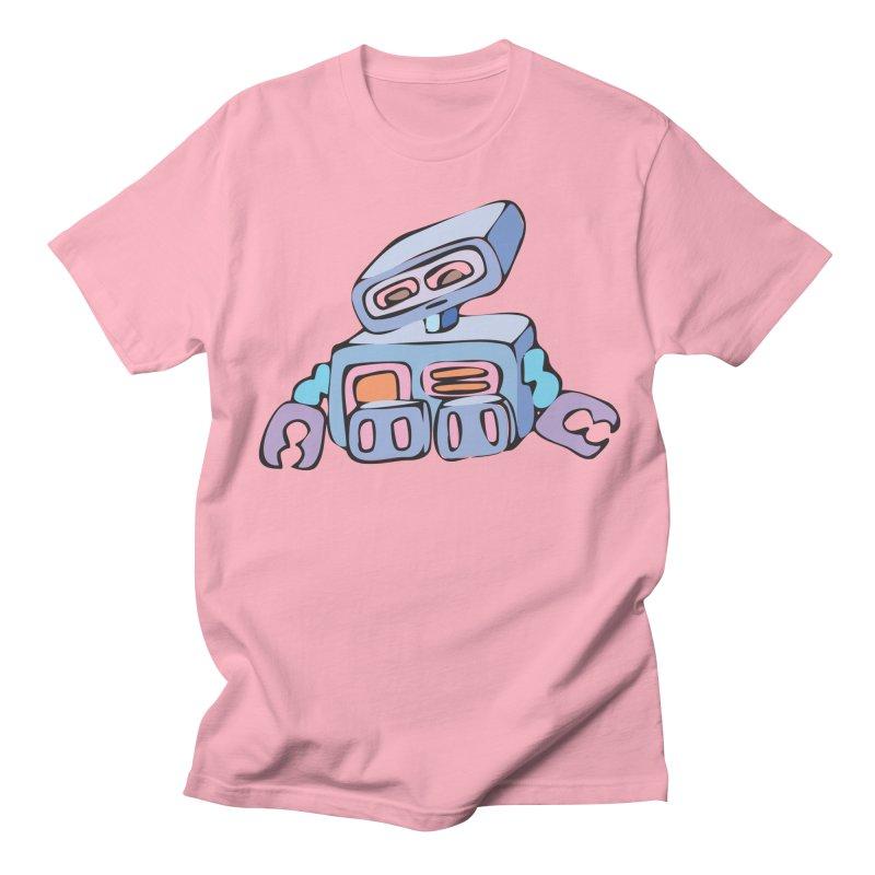 Sad Sad Robot Men's T-shirt by Shelly Still's Artist Shop