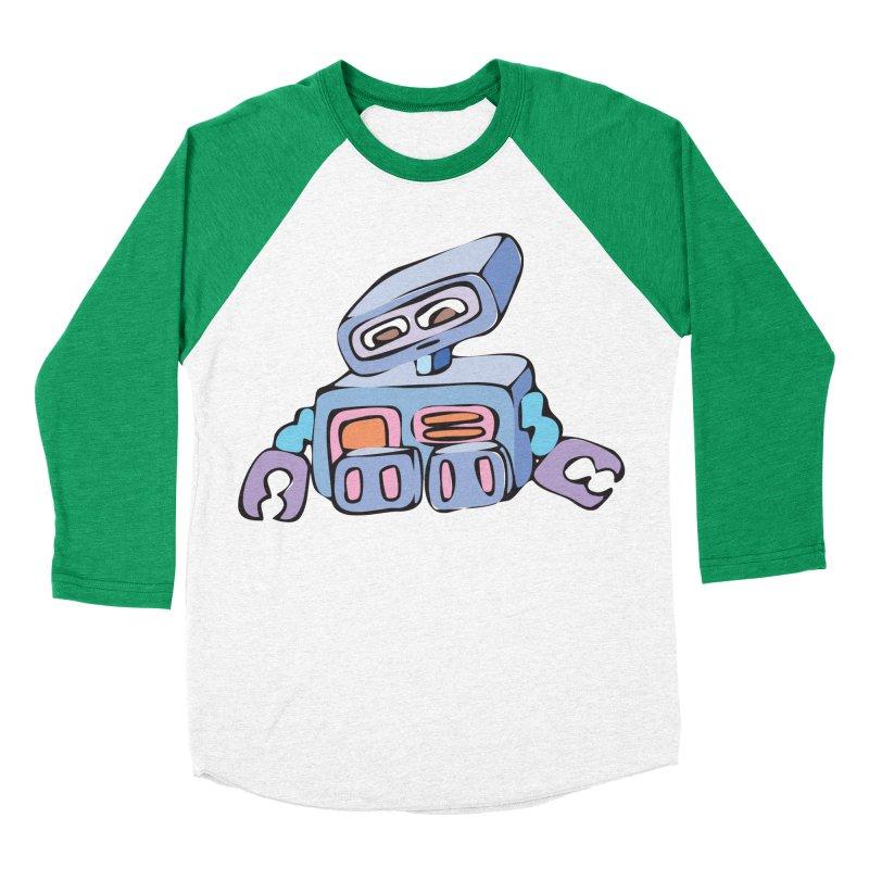 Sad Sad Robot Women's Baseball Triblend T-Shirt by Shelly Still's Artist Shop