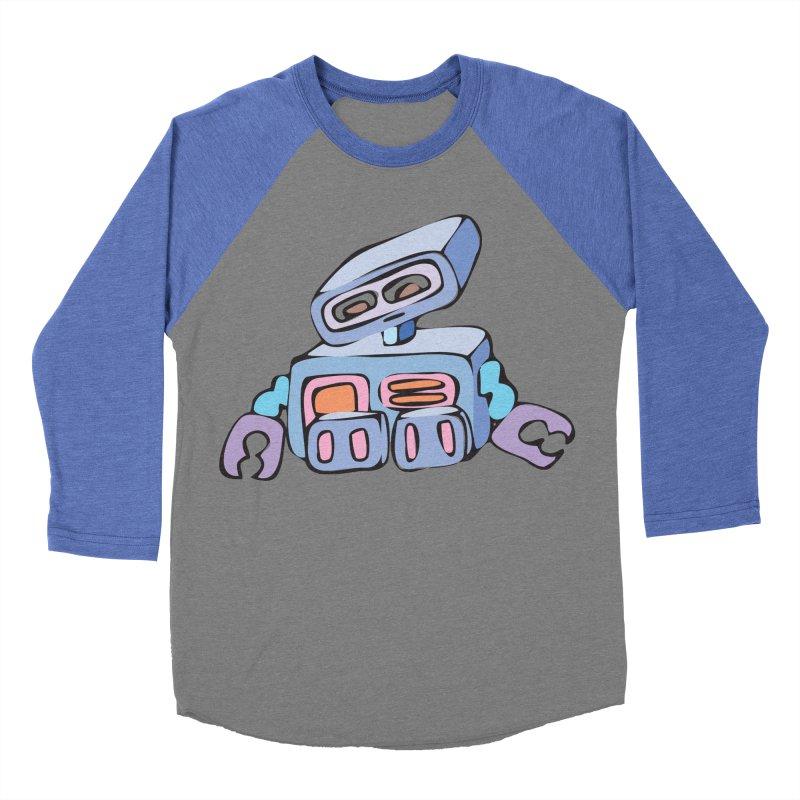 Sad Sad Robot Men's Baseball Triblend T-Shirt by Shelly Still's Artist Shop