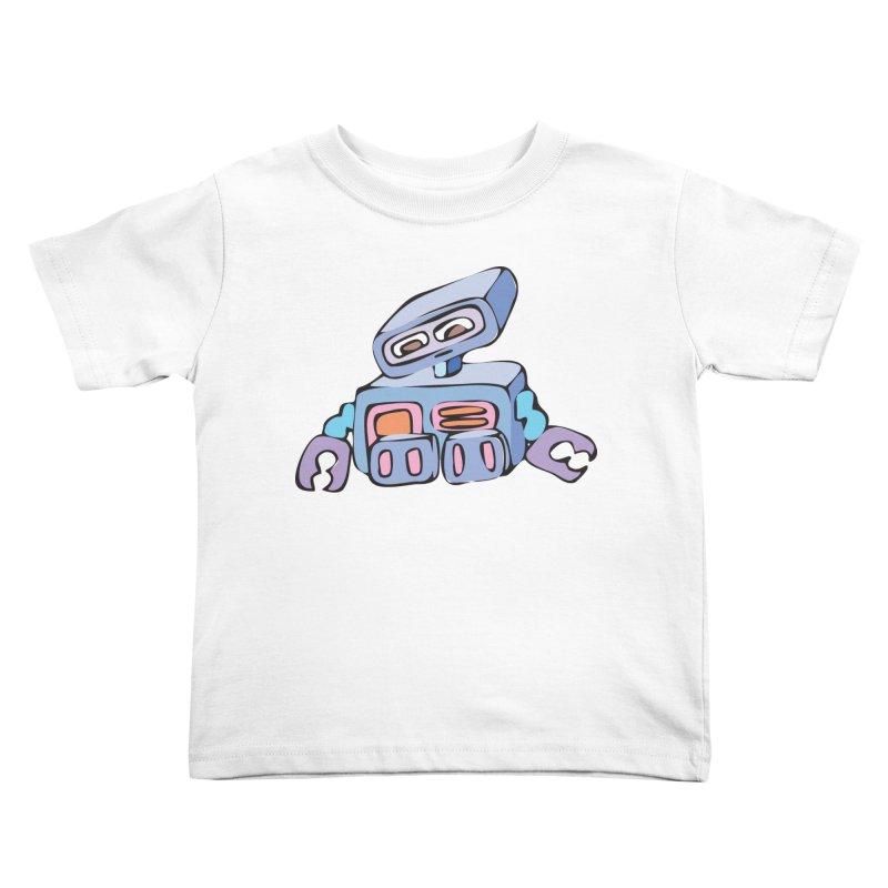 Sad Sad Robot Kids Toddler T-Shirt by Shelly Still's Artist Shop