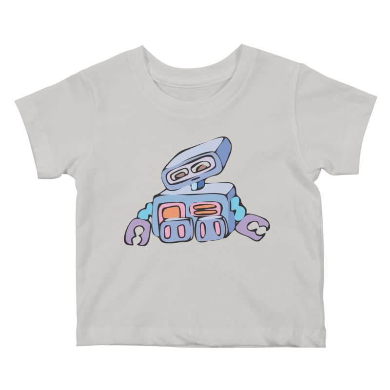 Sad Sad Robot Kids Baby T-Shirt by Shelly Still's Artist Shop
