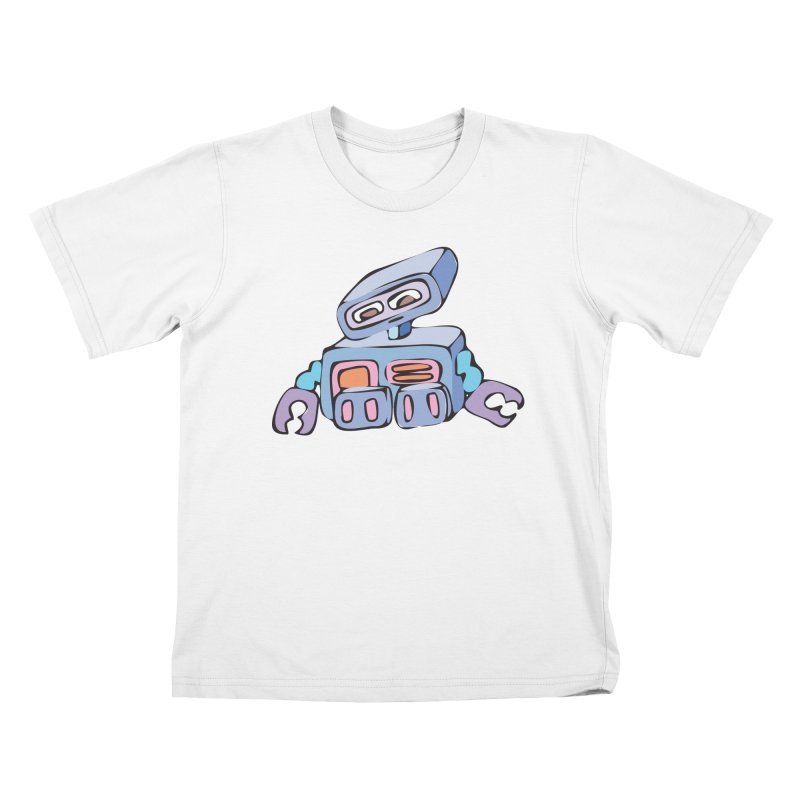 Sad Sad Robot Kids T-shirt by Shelly Still's Artist Shop