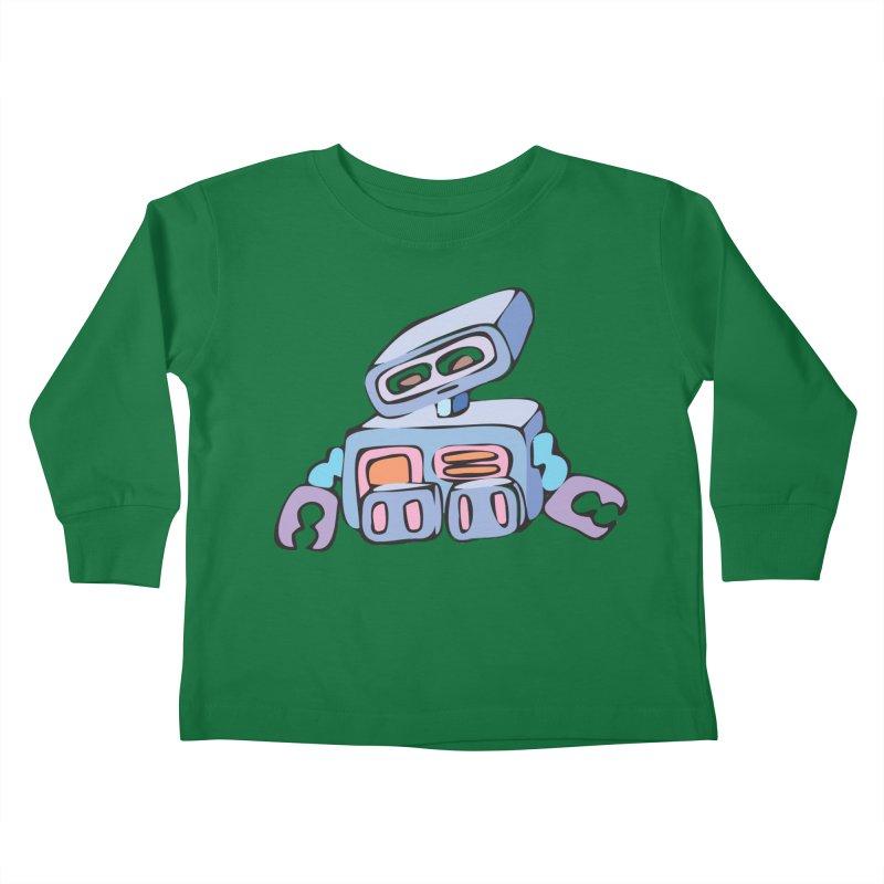Sad Sad Robot Kids Toddler Longsleeve T-Shirt by Shelly Still's Artist Shop