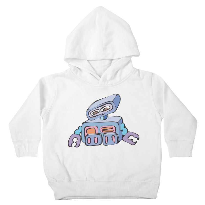 Sad Sad Robot Kids Toddler Pullover Hoody by Shelly Still's Artist Shop