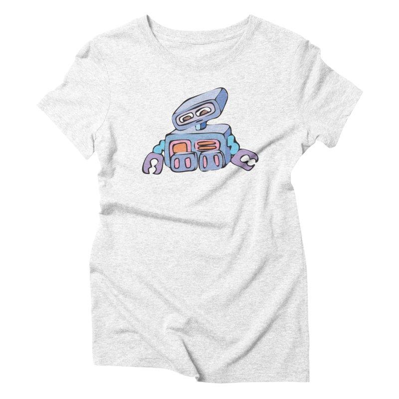 Sad Sad Robot Women's Triblend T-shirt by Shelly Still's Artist Shop