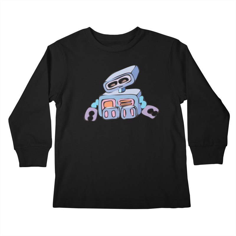 Sad Sad Robot Kids Longsleeve T-Shirt by Shelly Still's Artist Shop