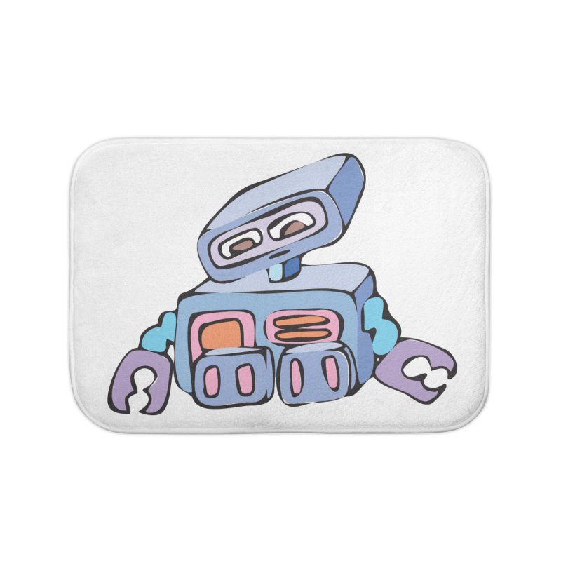 Sad Sad Robot Home Bath Mat by Shelly Still's Artist Shop