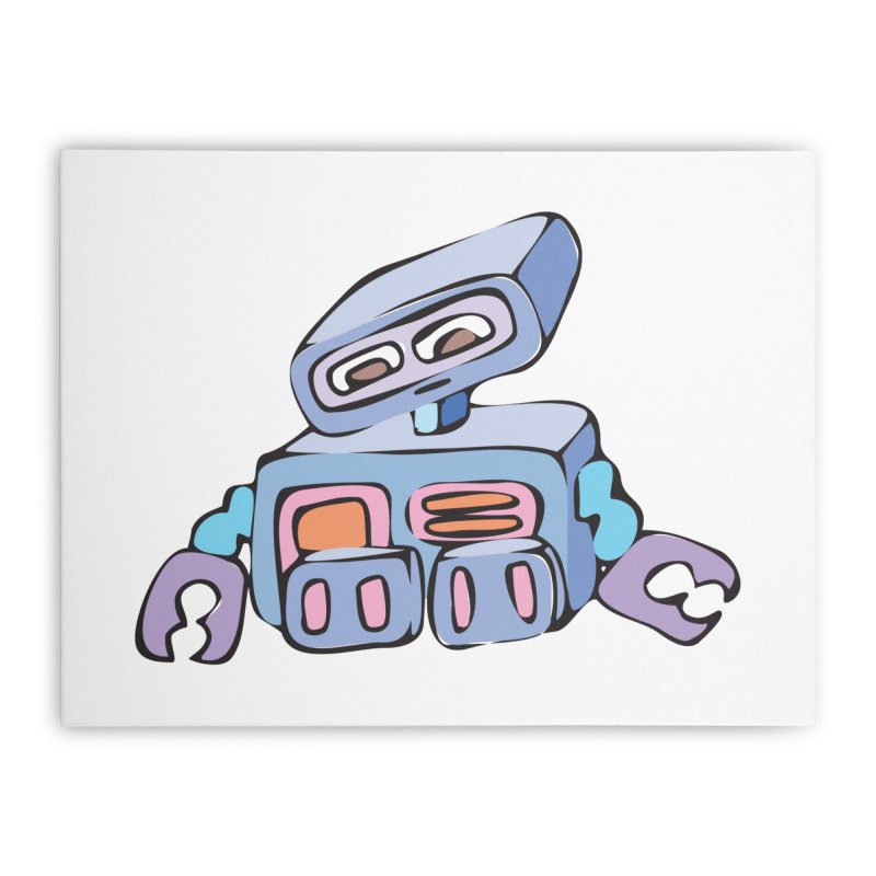 Sad Sad Robot Home Stretched Canvas by Shelly Still's Artist Shop