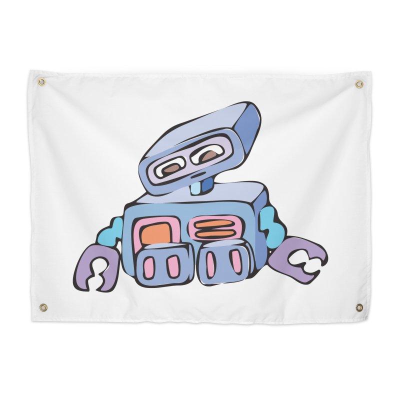 Sad Sad Robot Home Tapestry by Shelly Still's Artist Shop