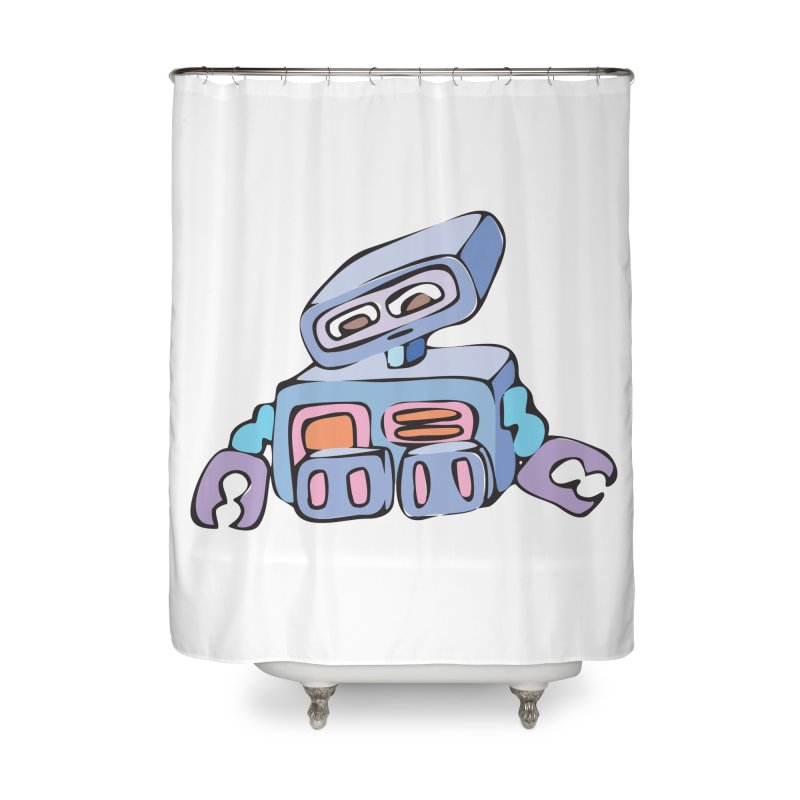 Sad Sad Robot Home Shower Curtain by Shelly Still's Artist Shop