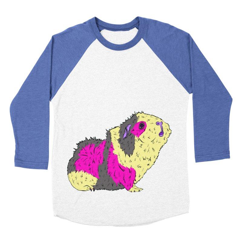 Piggy Stardust - Bowie Guinea Pig Tribute Men's Baseball Triblend T-Shirt by Shelly Still's Artist Shop